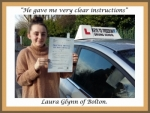 Laura Glynn of Bolton. passed with Keys to Freedom Driving School Bolton