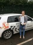 Lauren passed with Kiran's Driving School