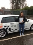 Alice passed with Kiran's Driving School