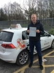 Johnathan passed with Kiran's Driving School