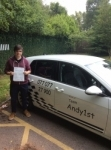 David passed with Kiran's Driving School
