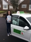 Phoebe  passed with Kiran's Driving School