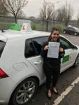 Nafessa passed with Kiran's Driving School