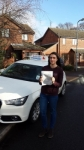 Verity Shelly passed with Lets Go Driving School
