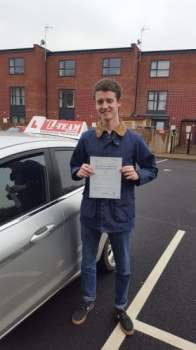 Congratulations to George passing his driving test with 