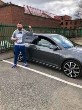Congratulations to Robin passing his driving test with 
