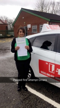 Congratulations to OMARA passing her driving test with L-Team driving school for the first time!! #passed#driving#learner #manchester#drivinglessons #help #learning #cars Call us know to get booked in on 0161 610 0079  PASSED IN APRIL 2018...