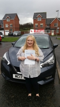 Congratulations to Sarah passing her driving test with 