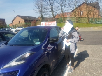 Congratulations to Aisha passing her driving test with  L-Team driving school for the first time!! #passed#driving#learner🏆 #manchester#drivinglessons #help #learning #cars Call us know to get booked in on 0333 240 6430  PASS IN APRIL 2018...