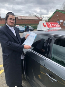 Congratulations to Yoel passing his driving test with 