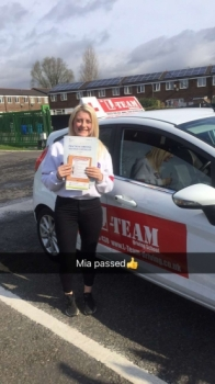 Congratulations to Mia passing her driving test with  L-Team driving school for the first time!! #passed#driving#learner🏆 #manchester#drivinglessons #help #learning #cars Call us know to get booked in on 0333 240 6430  PASS IN APRIL 2018...
