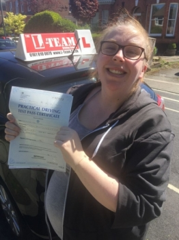 Congratulations to Ellesse passing her driving test with 