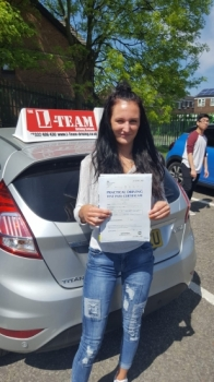 Congratulations to Tiffany passing her driving test with  L-Team driving school for the first time!! #passed#driving#learner🏆 #manchester#drivinglessons #help #learning #cars Call us know to get booked in on 0333 240 6430   PASSED MAY 2018🏆...