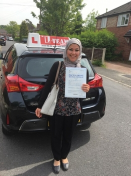 Congratulations to Hend passing her driving test with  L-Team driving school for the first time!! #passed#driving#learner🏆 #manchester#drivinglessons #help #learning #cars Call us know to get booked in on 0333 240 6430   PASSED MAY 2018🏆...