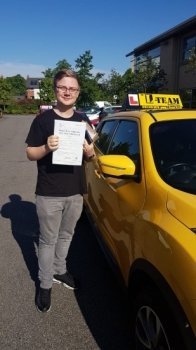 Congratulations to Thomas for passing his driving test with 