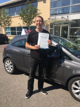 Congratulations to Gregg passing his driving test with 