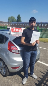 Congratulations to Zeeshan passing his driving test with 