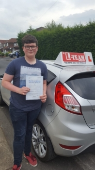 Congratulations to Max passing his driving test with 