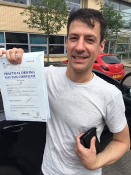 Congratulations to Anthony passing his driving test with 