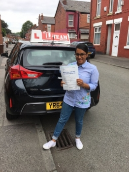 Congratulations to Minara  passing her driving test with L-Team driving school for the first time!! #passed#driving#learner🏆 #manchester#drivinglessons #help #learning #cars Call us now to get booked in on 0333 240 6430