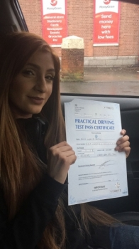 Congratulations to Iqra passing her driving test with 