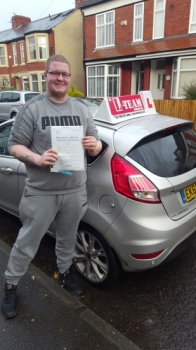 Congratulations to Tom passing his driving test with