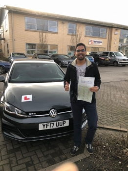 Congratulations to Raayan passing his driving test with 