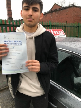 Congratulations to Hasan passing his driving test with 