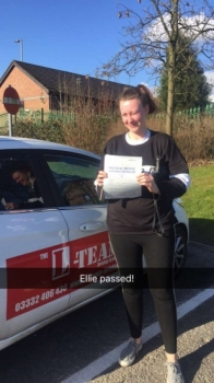 Congratulations to Ellie passing her driving test with 