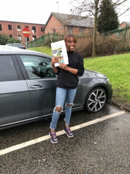 Congratulations to Shay passing her driving test with 