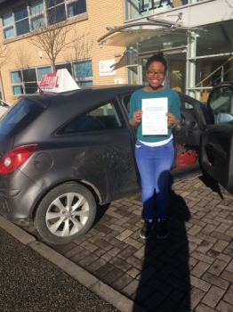 Congratulations to Janine passing her driving test with 