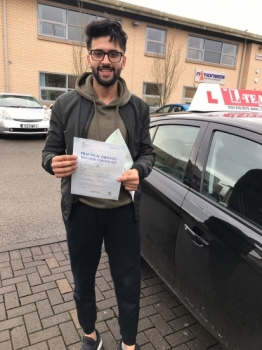 Congratulations to Danyal passing his driving test with