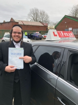 Congratulations to Fred passing his driving test with 