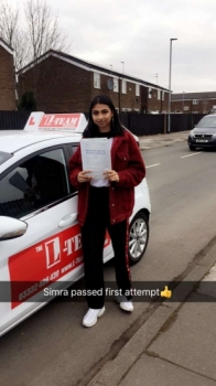 Congratulations to Simra passing her driving test with 