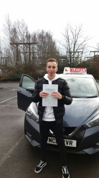 Congratulations to Dion passing his driving test with    