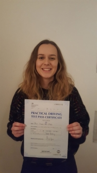 Congratulations to Rose passing her driving test with 