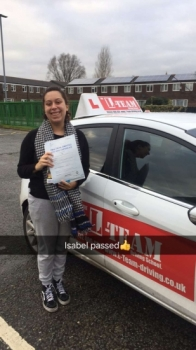 Congratulations to Isabel passing her driving test with 