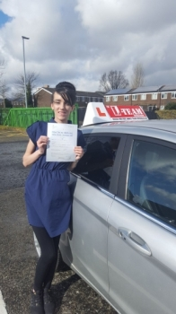 Congratulations to Mary passing her driving test with