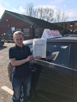 Congratulations to Carla passing her driving test with 
