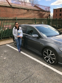 Congratulations to Zing passing her driving test with 