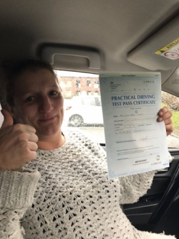 Congratulations to Leah passing her driving test with