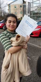 Congratulations to Noor passing her driving test with 