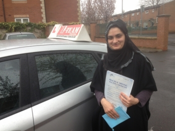 Thanks L-team drivingschool for helping me to pass first time....