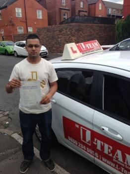thanks l team driving school i couldnt  of done it without you..... 6/09/2013...