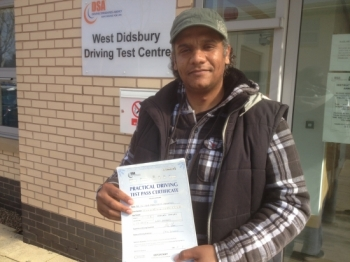 HI am Mohammed from whallyrange passed today 1st time 2 minors  22/04/2013...