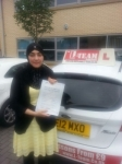 FARHI NAZ passed with L Team Driving School