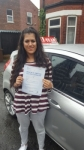 Ameena Khan passed with L Team Driving School