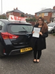 MUSHIRA passed with L Team Driving School