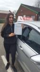 SONIA passed with L Team Driving School