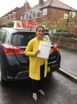 MUBASHRA passed with L Team Driving School